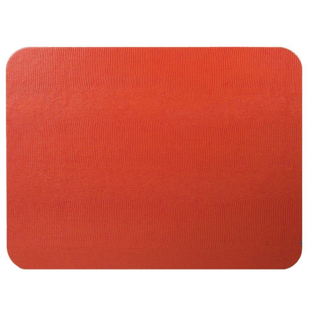 Orange Rectangular Lizard Felt Back Placemat - Boutique Marie Dumas