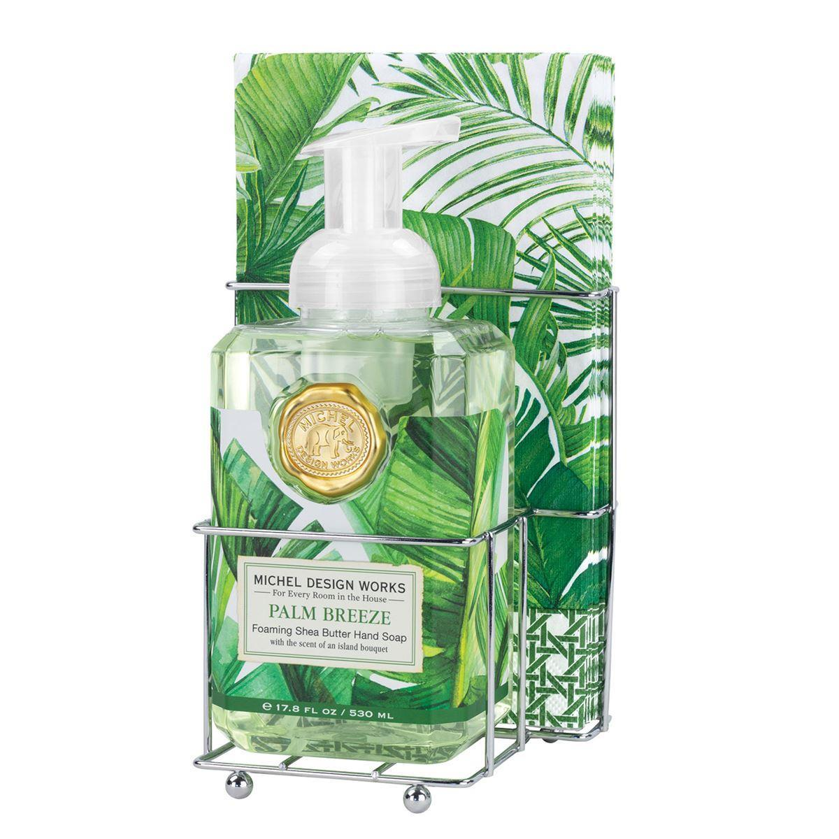 Palm Breeze Foaming Hand Soap Napkin Set - Boutique Marie Dumas
