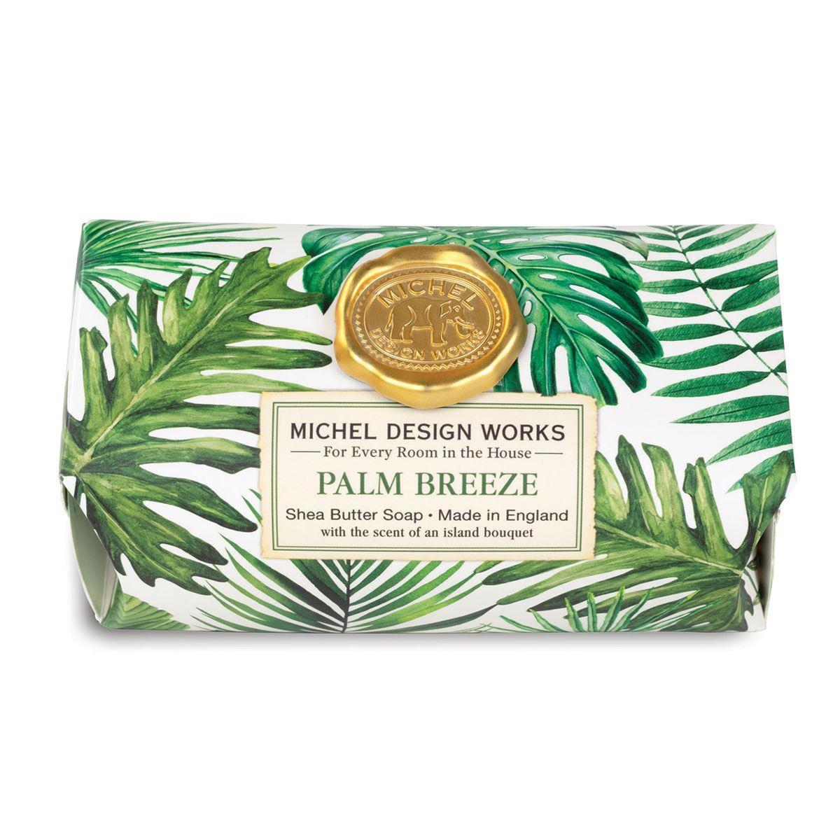 Palm Breeze Large Bath Soap Bar - Boutique Marie Dumas