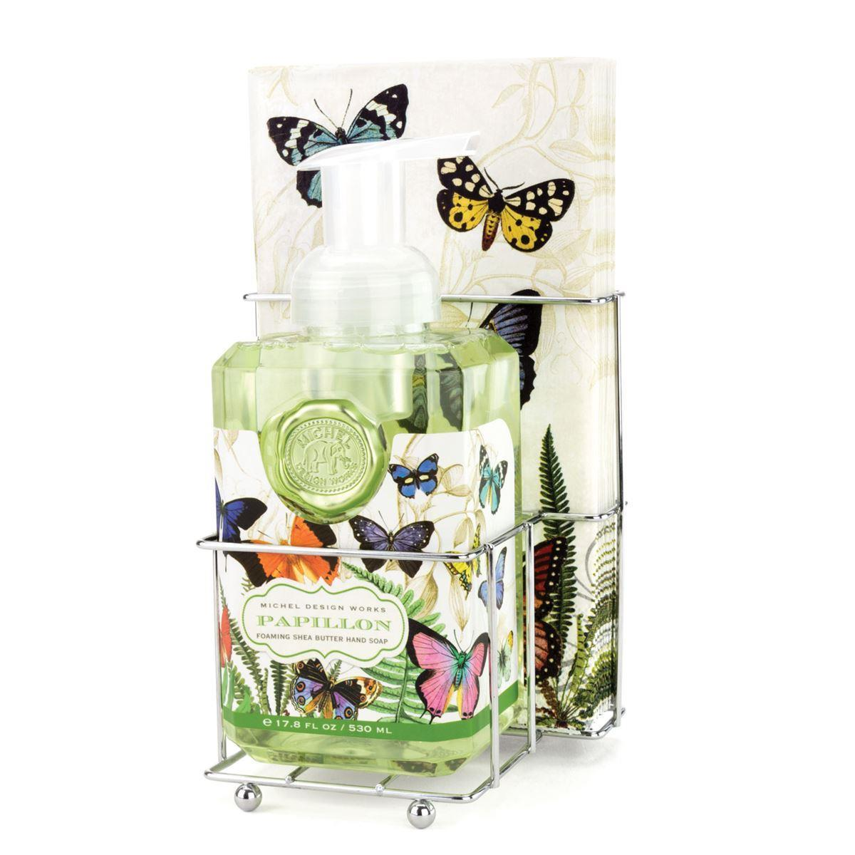 Papillon Foaming Hand Soap Napkin Set - Boutique Marie Dumas