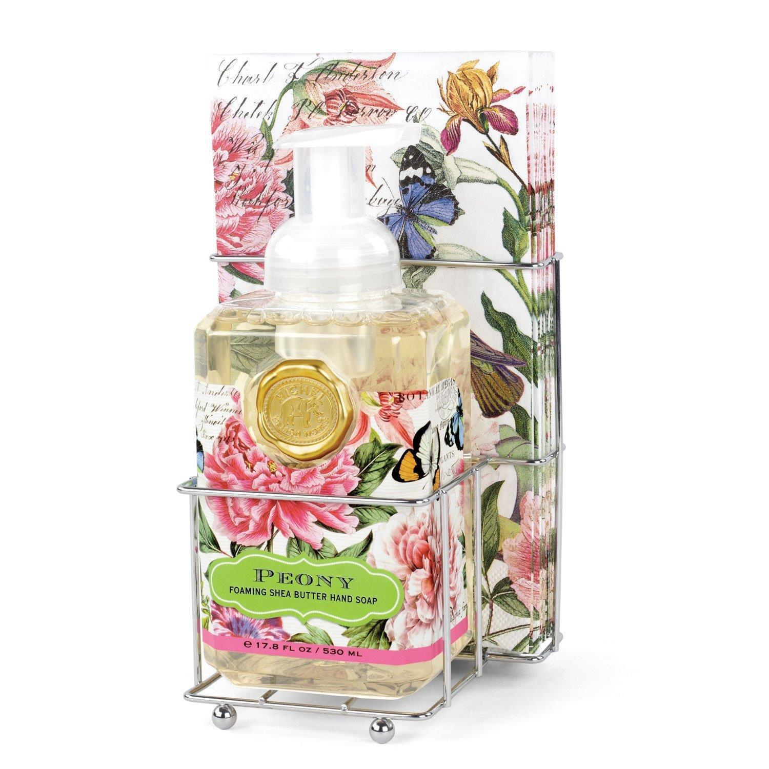 Peony Foaming Hand Soap Napkin Set - Boutique Marie Dumas