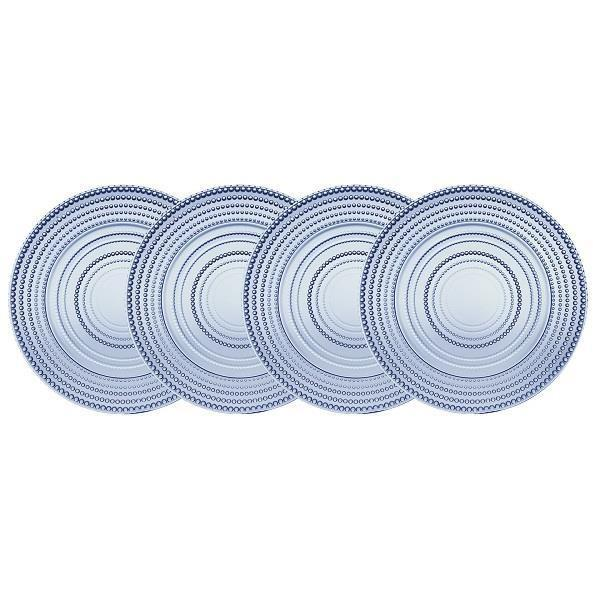 Rain Drop Blue Salad Plates - Set of 4 - Boutique Marie Dumas