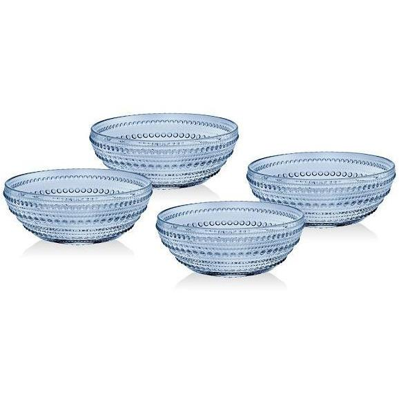Rain Drop Blue Soup Bowls - Set of 4 - Boutique Marie Dumas