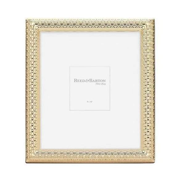 Reed & Barton Watchband Satin Gold 8x10 Frame - Boutique Marie Dumas