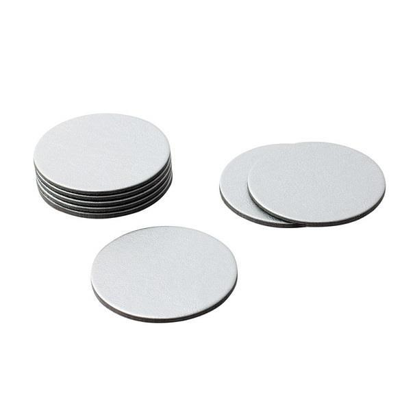 Round Silver Leather Coasters - Boutique Marie Dumas