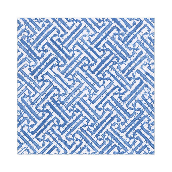 Luncheon Fretwork Blue Napkin