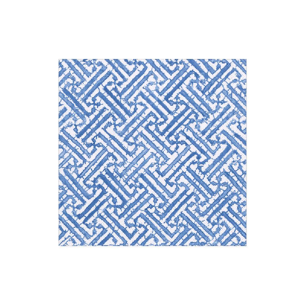 Cocktail Fretwork Blue Napkin