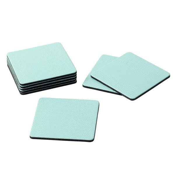 Square Light Blue Lizard Coasters - Boutique Marie Dumas