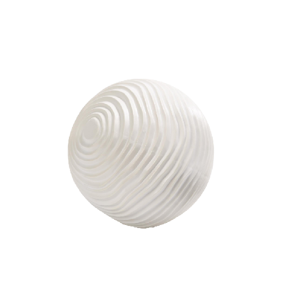 White Carved Sphere