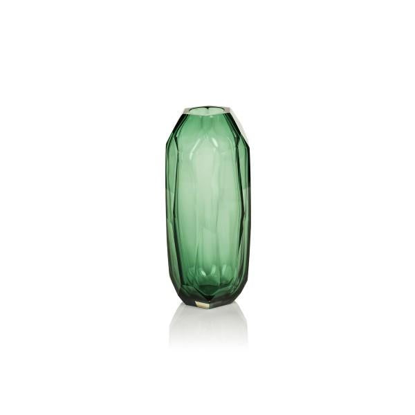 Jade Glass Vase 9.5""