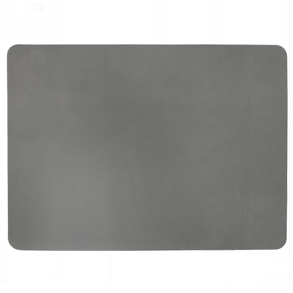 Rectangular Leather Placemat - Charcoal