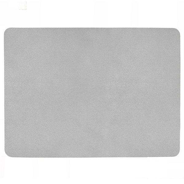 Rectangular Leather Placemat - Silver