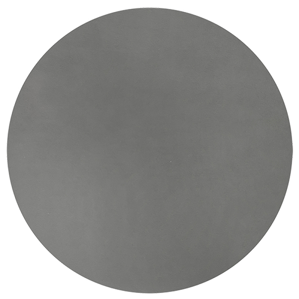 Round Leather Placemat - Charcoal
