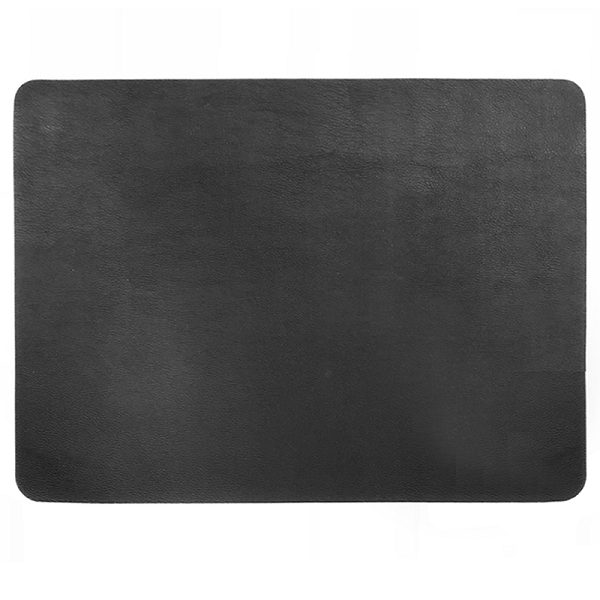Rectangular Leather Placemat - Black