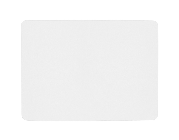 Rectangular Leather Placemat - White