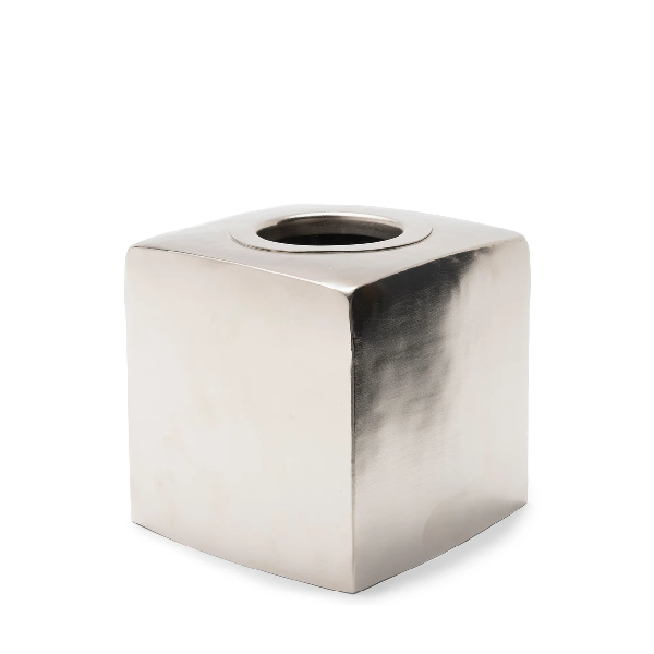 Silver Brass Tissue Box Holder