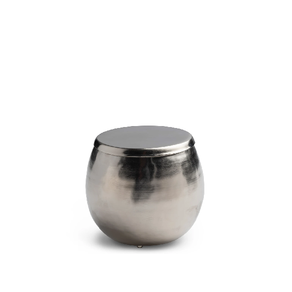 Silver Brass Cotton Jar