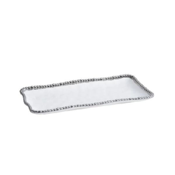 Medium Porcelain Rectangular Tray - White