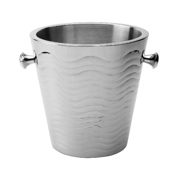 Wave Stainless Steel Ice Bucket