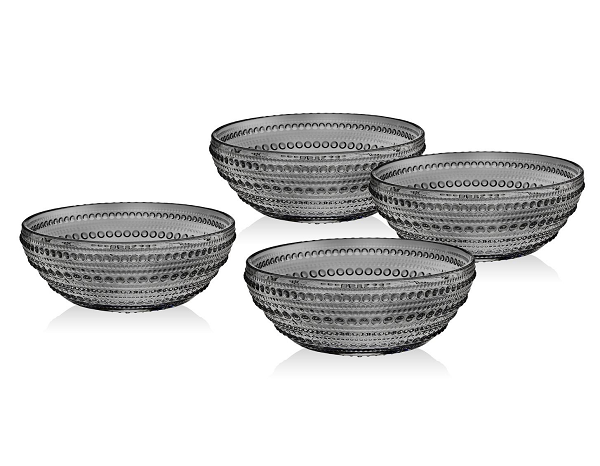 Rain Drop Grey Soup Bowl - Set of 4