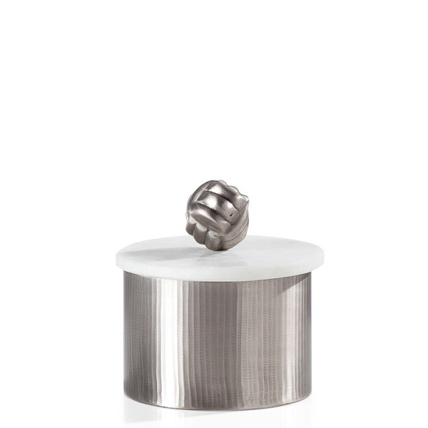 Pewter Canister with Marble Lid - Small
