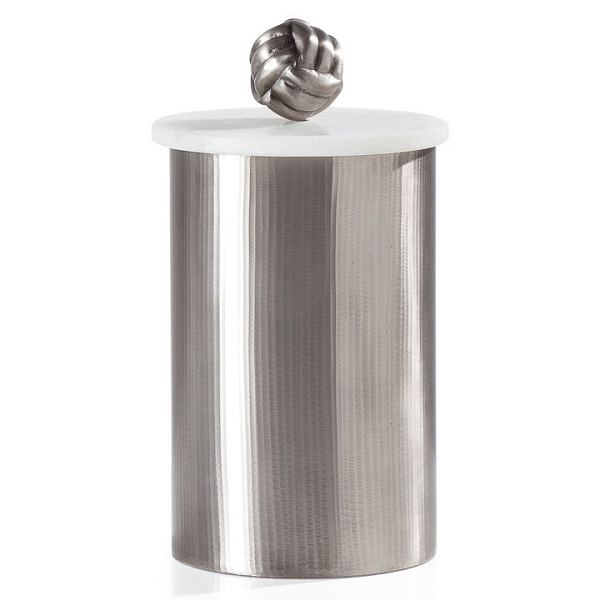 Pewter Canister with Marble Lid - Large