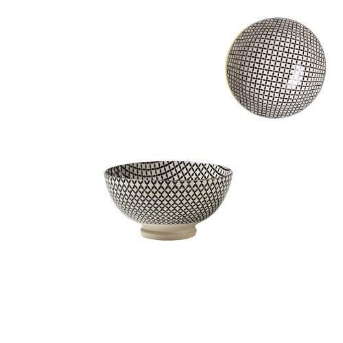Kiri Porcelain Small Bowl Wicker Weave
