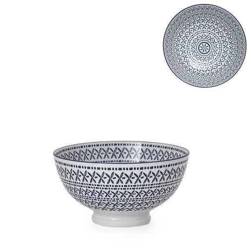 Kiri Porcelain Small Bowl Blue Stitch