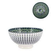 Kiri Porcelain Bowl Green Mandala - Medium