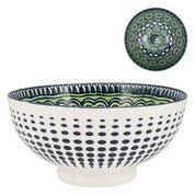 Kiri Porcelain Bowl Green Mandala - Large