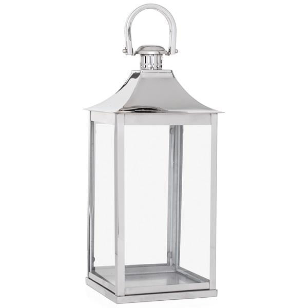 Stainless Steel Curved Top Lantern - 24