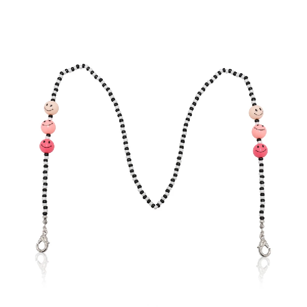 Smiley Mask Chain Pink