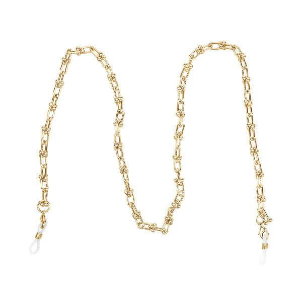 Pin Link Mask Chain - Gold