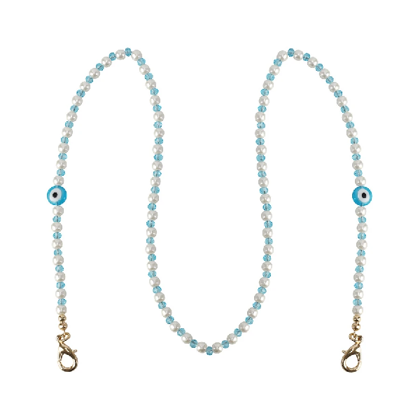 Evil Eye Mask Chain - Turquoise