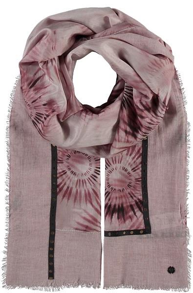Silk Patterned Pink Scarf