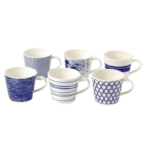 Waterford Pacific Mugs S/6
