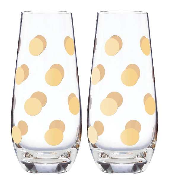 Kate Spade Stemless Champagne Pearl - Set of 2