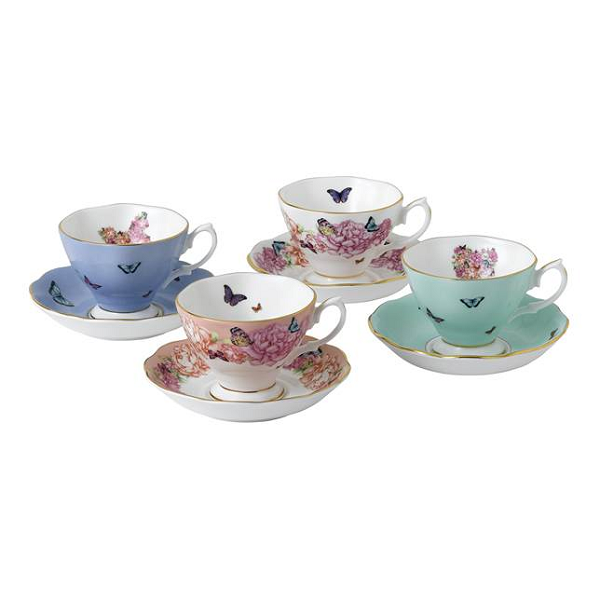 Miranda Kerr Friendship Set of 4 Teacups & Saucers
