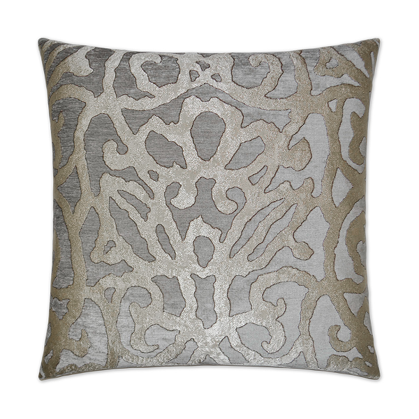 Silver Brocade Pillow