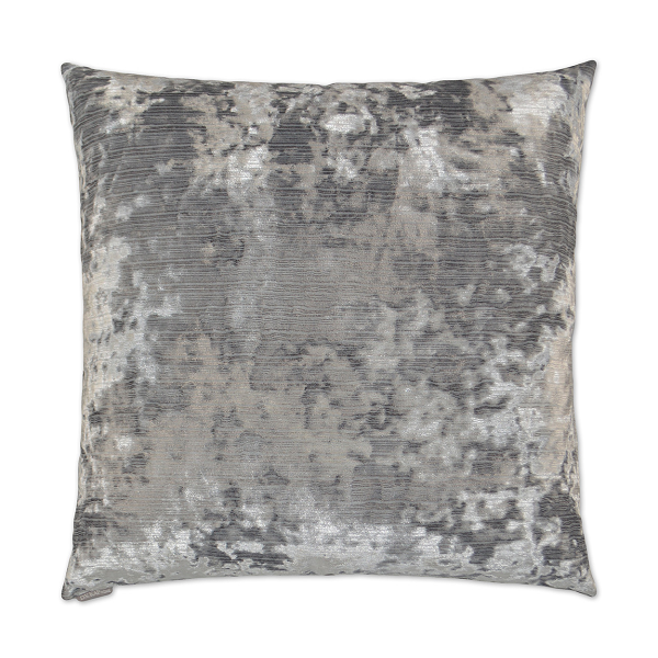 Silver Crushed Velvet Pillow