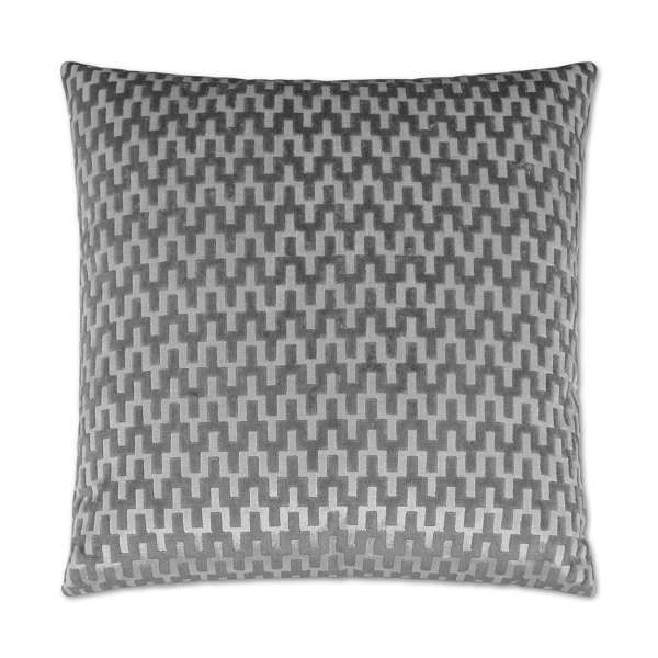 Platinum Houndstooth Pillow