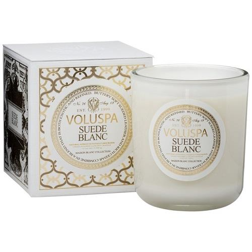 Voluspa Classic Maison Candle - Suede Blanc