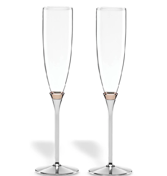 Kate Spade Rosy Glow Flutes - Set of 2