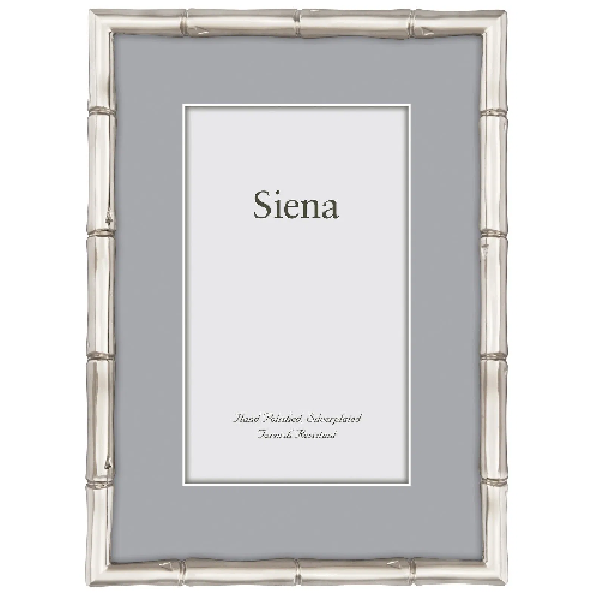 Siena Bamboo Silver 5x7 Frame
