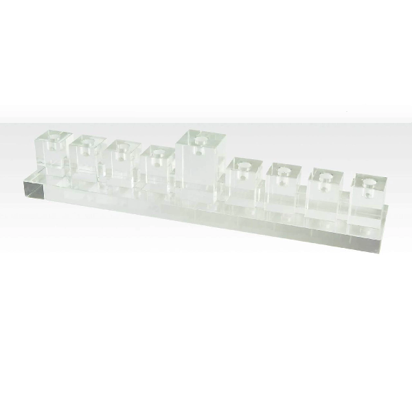 Crystal Glass Menorah