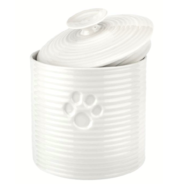 SC White Pet Treat Jar 6.5""