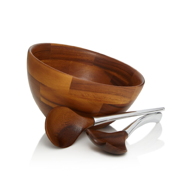 Nambe Luna Salad Bowl & Servers