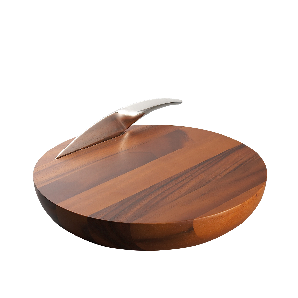 Nambe Harmony Cheese Board W/Knife
