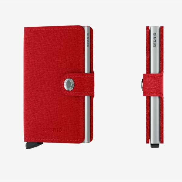 Secrid Miniwallet Crisple Red - Boutique Marie Dumas