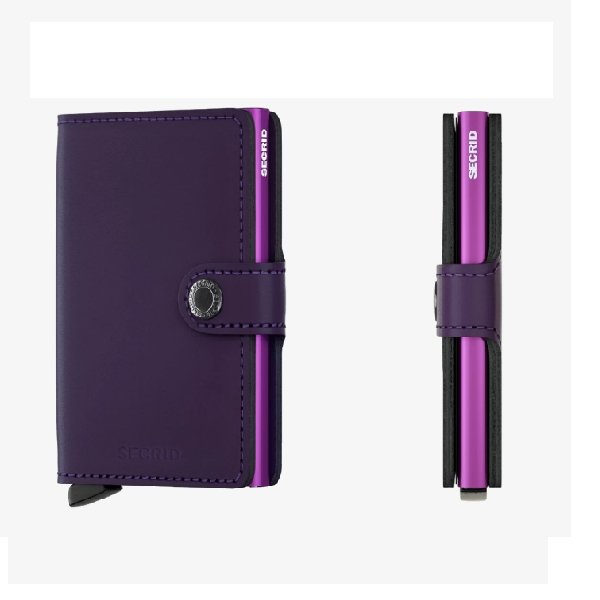 Secrid Miniwallet Matte Purple - Boutique Marie Dumas